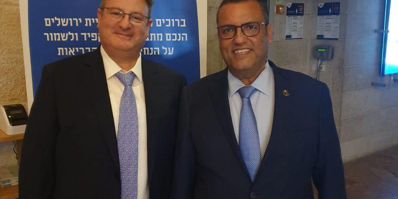 פגישת עבודה עם ראש עיריית ירושלים משה ליאון